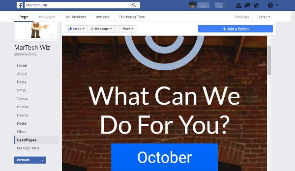 Leadpage on Facebook