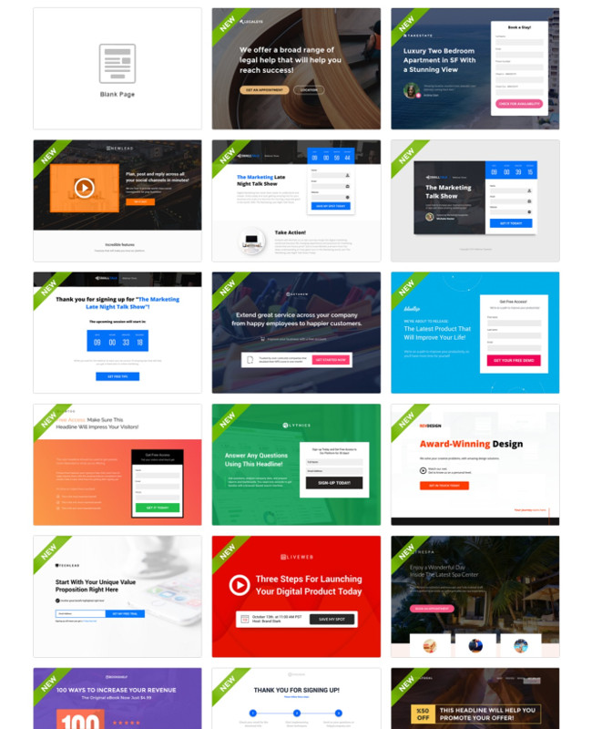 Templates - Instapage Review