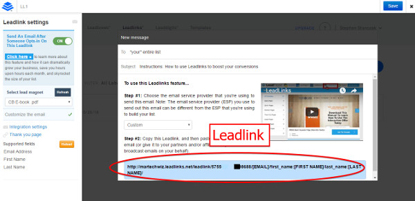 Leadlinks Editor