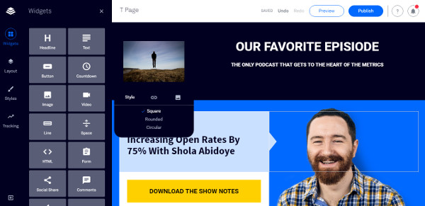Leadpages Review - Drag and Drop Editor