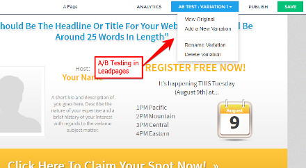 A/B Testing - Leadpages Review