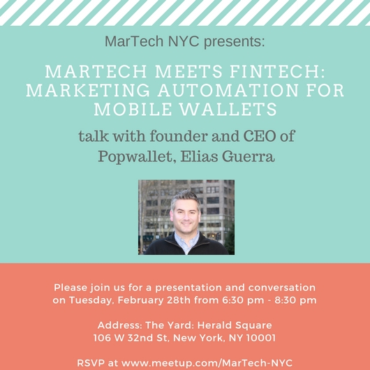 MarTech NYC Event with Popwallet announcement
